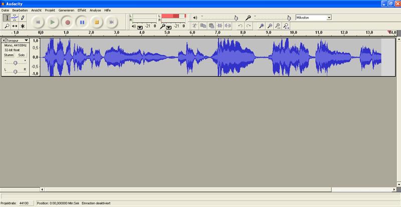 Audacity Tonaufnahme für Video