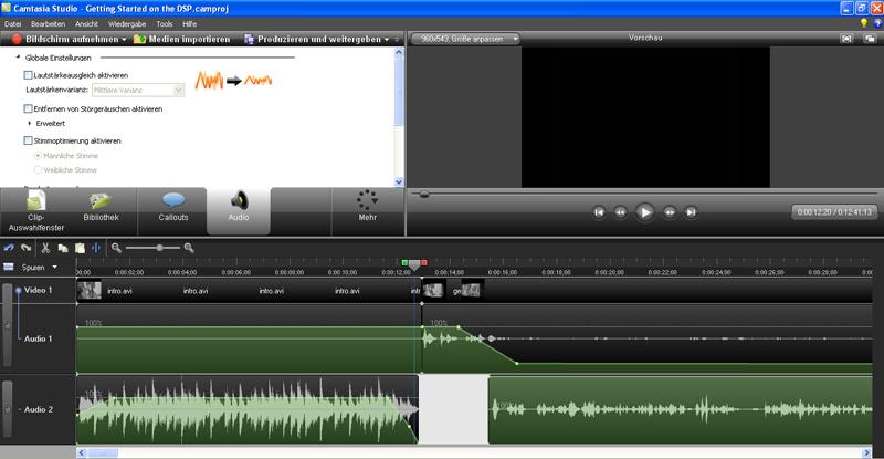 Camtasia Videobearbeitung