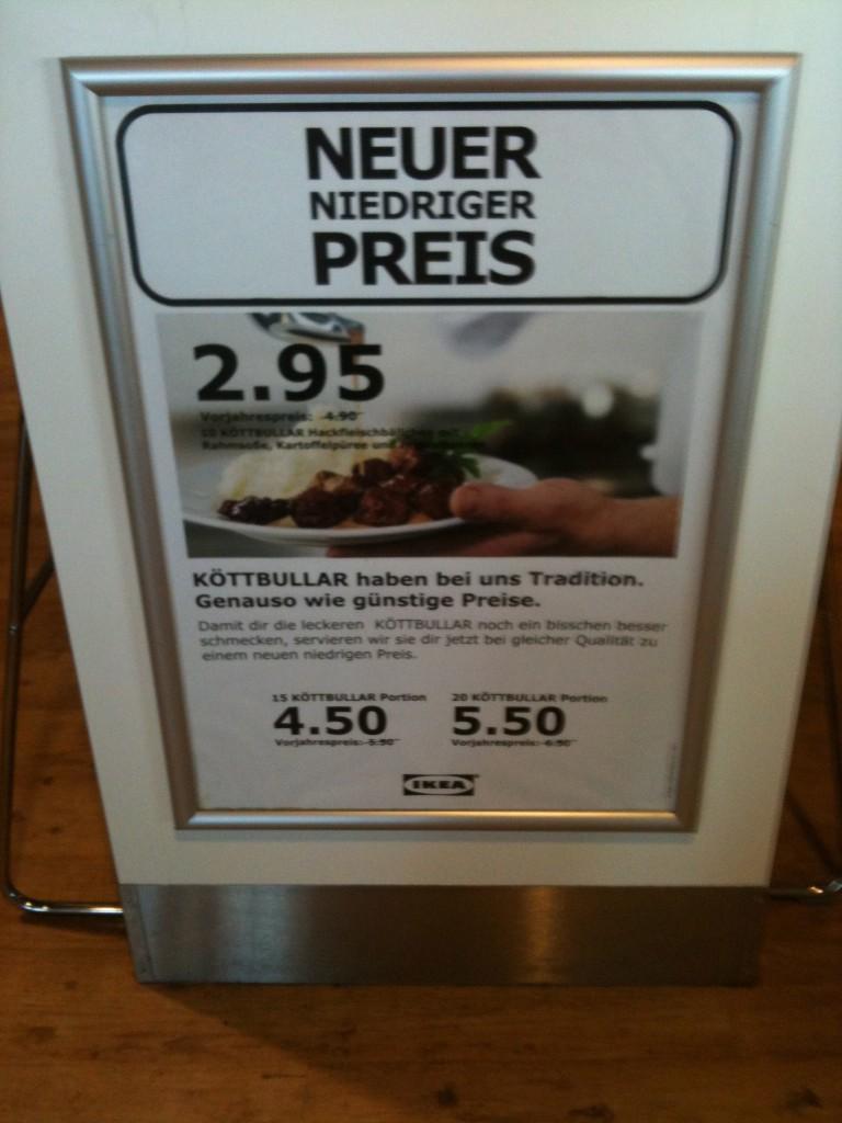 Schwedische Hackfleischbällchen bei Ikea