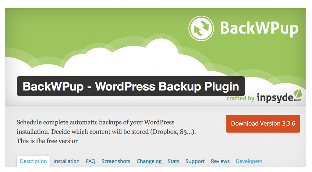 Backup Plugin WordPress