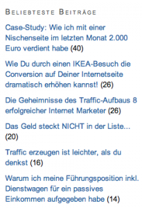 Beliebteste Beiträge Plugin WordPress