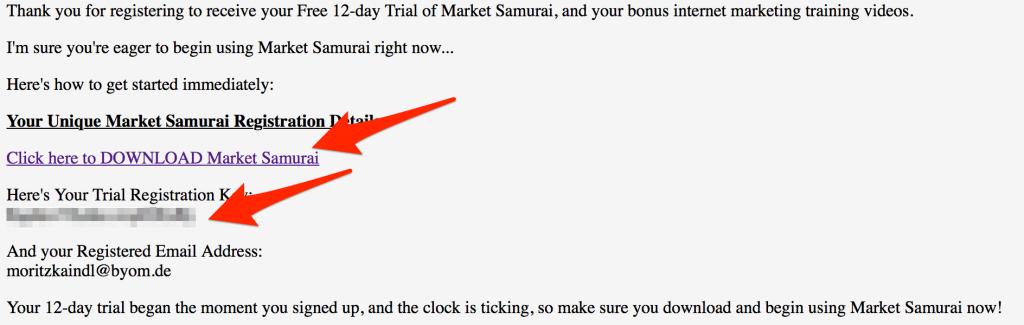 Market Samurai Key