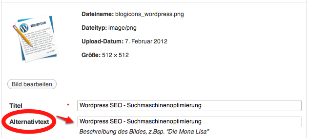 Wordpress Alt-Tags