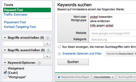 google-keyword-tool-einstellung-exakt