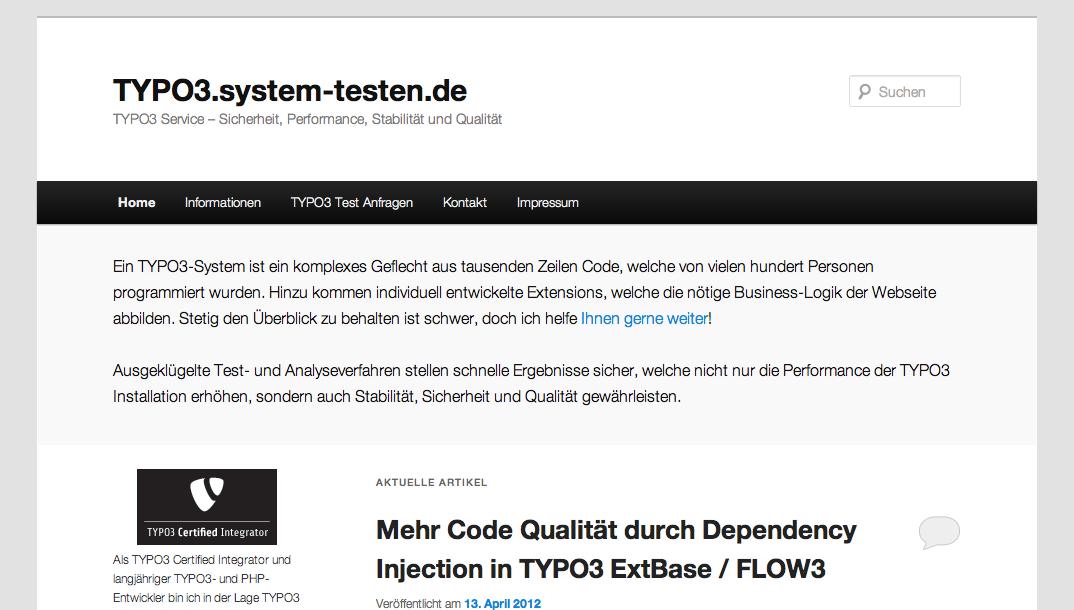 Typo3 System Testen