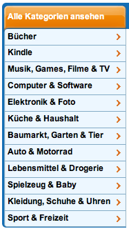 Kategorien Amazon
