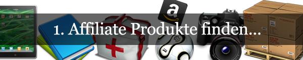 Affiliate Produkte finden...