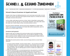 Nischenseite www.schnell-gesund-zunehmen.de