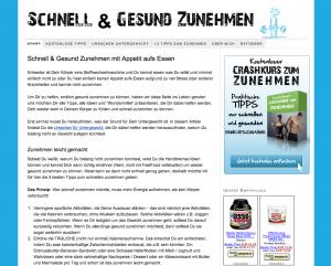 Nischenseite www.schnell-gesund-zunehmen.de
