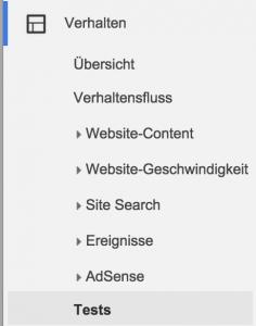 google-analytics-verhalten-tests