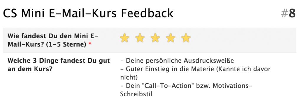 Feedback E-Mail-Mini-Kurs