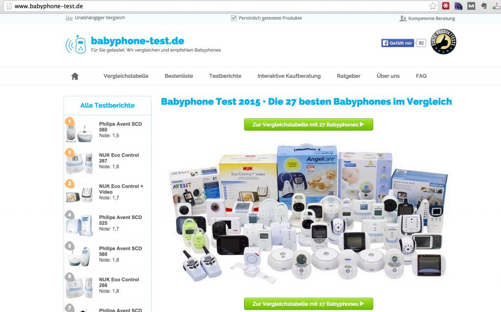 Babyphone Test