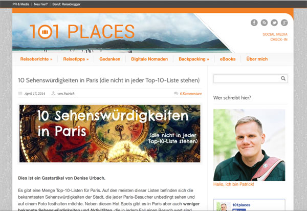 Beispiel-WordPress-Seite