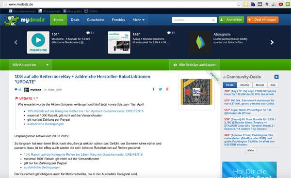 Beispiel-WordPress-Seiten-MyDealz