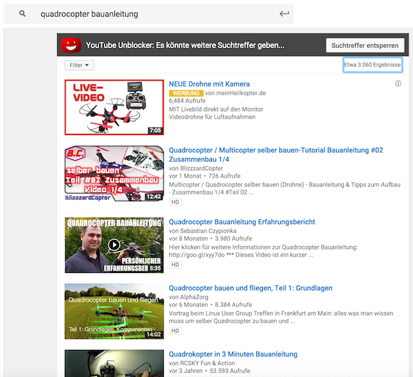 YouTube Quadrocopter Bauanleitung