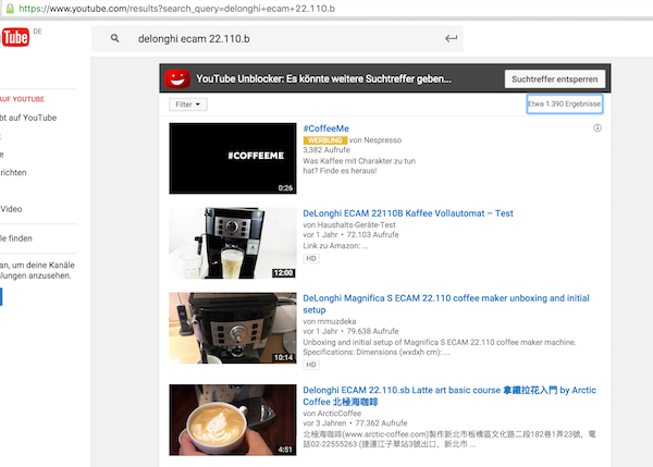 YouTube-Kaffeevollautomat
