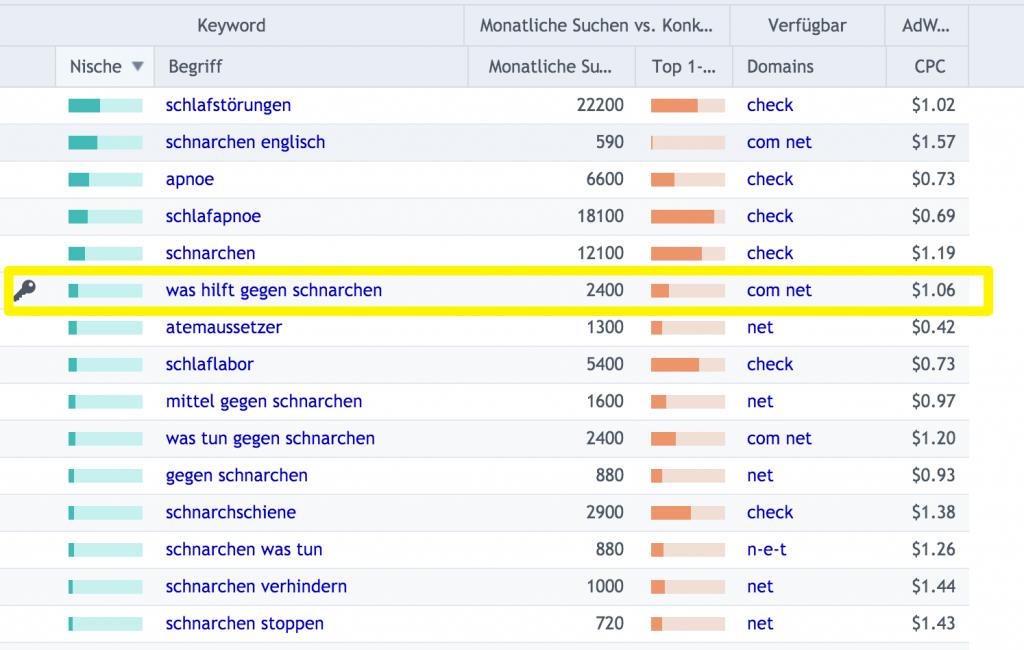 Keyword-Analyse-mit-SECockpit