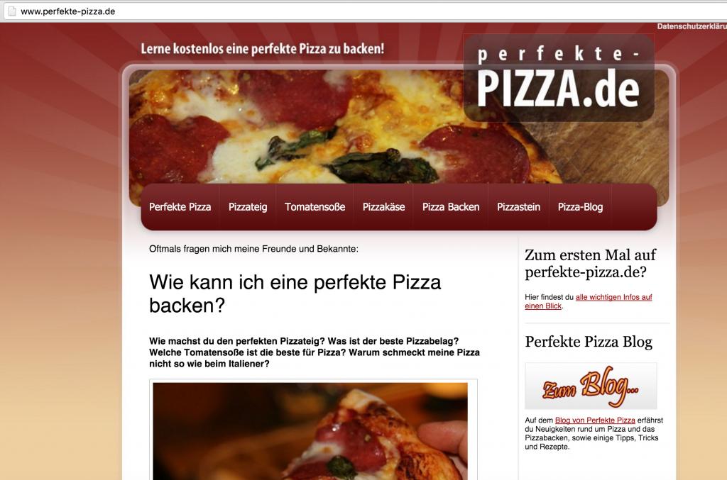 Beispiel Perfekte-Pizza