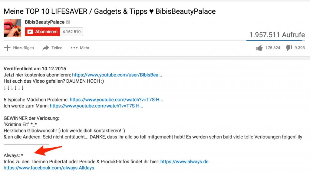 preis youtube werbung