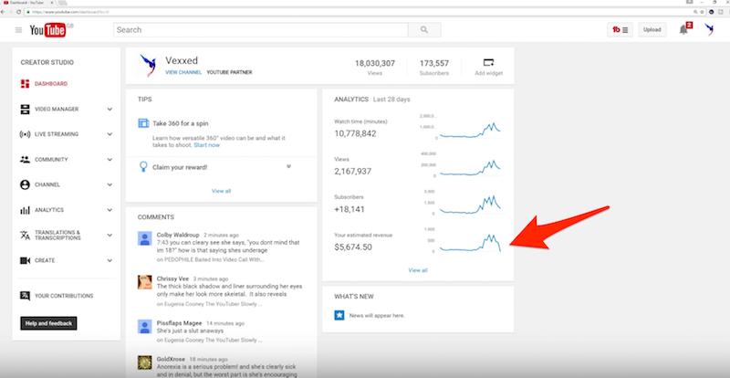 YouTuber Einnahmen