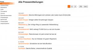 Pressemitteilungen Stiftung Warentest
