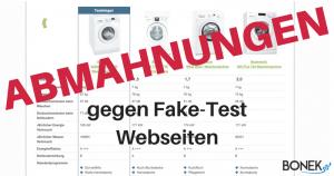 """Abmahnungen gegen """"Fake-Test"""" Webseiten"""